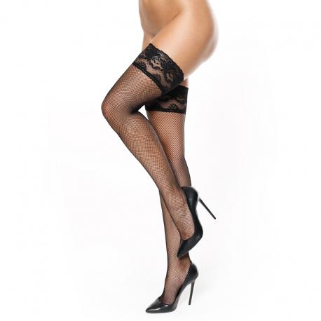 Black Fishnet Hold up stockings S605 – MissO