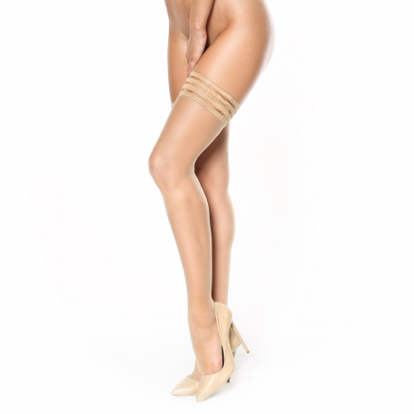 Beige Hold up stockings –S306 MissO