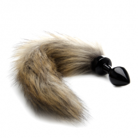 Mini Buttplug Fox Tail - Black