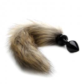 Mini Buttplug Fox Tail - Black