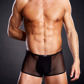 Boxer Short in micro mesh black - Blue Line
