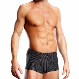 Sexy schwarze Unterhose mit weissen Streifen Performance Microfiber - Blue Line