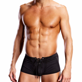 Black Sexy Trunk Performance Microfiber Lace-Up - Blue Line