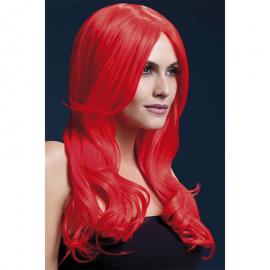 Perruque longue rouge Khloe – Fever