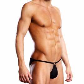 Performance Microfiber Pouch Bikini Black - Blue Line