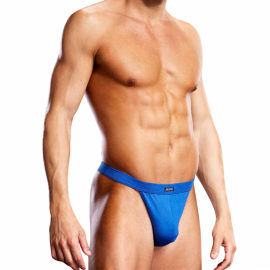 Performance Microfiber Thong Blue - Blue Line
