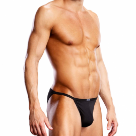 Performance Microfiber String Bikini Black - Blue Line