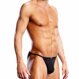 Sexy String Performance Microfiber Bikini Schwarz - Blue Line
