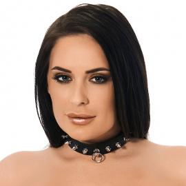 BDSM Halsband mit Spikes (2½ cm Breite)