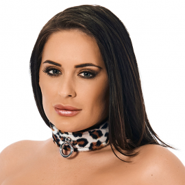 Collier BDSM Leopard (largeur 4 cm)