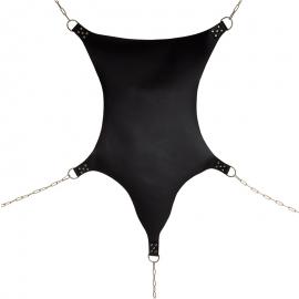 Amaca sadomaso in pelle Spider Sling con 5 anelli a D (senza catene) – Rimba