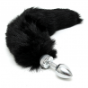 Butt plug SMALL with black tail (unisex) - Rimba