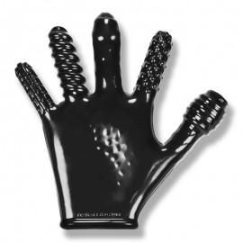 Finger Fuck Oxballs Schwarz - texturierte Handschuh
