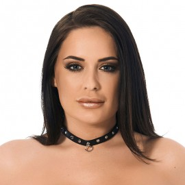 BDSM collar with dome studs (width 1.5 cm)