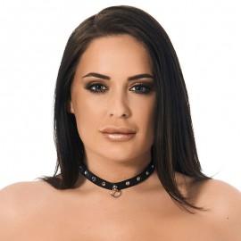 Collare BDSM con rivetti (1.5 cm di larghezza)