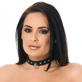 BDSM collar with dome studs (width 2.5 cm)