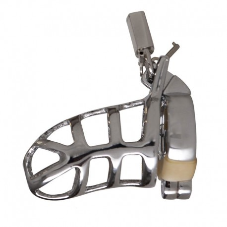 Cage de chasteté métallique avec cadenas - Rimba