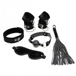 BDSM Starter Kit Black (6-Pieces) - Rimba