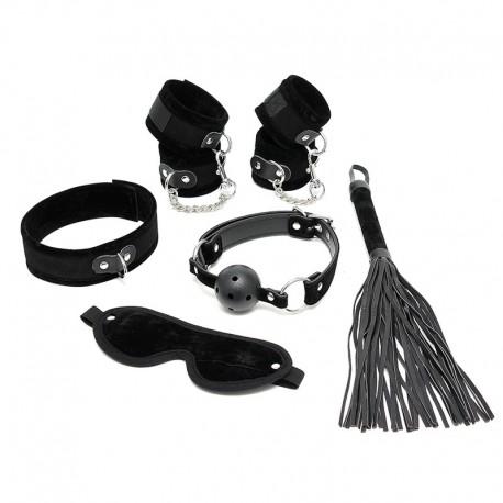BDSM Kit débutant noir (6-pièces) - Rimba