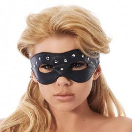 Masque BDSM en cuir nappa avec rivet - Rimba