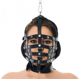 BDSM Muzzle mask with hanging ring on top - Rimba