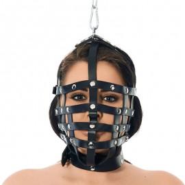 BDSM Riemenmaske mit AufhängRing an Obenseite - Rimba