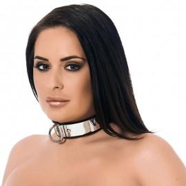 Metall BDSM Halsband mit Vorhängeschloss (3.5 cm Breite) - Rimba