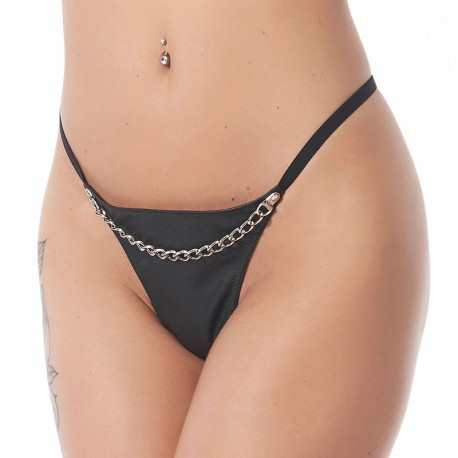 Leather G-String with chain – Rimba