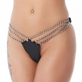 Leather G-String with 3 chains – Rimba
