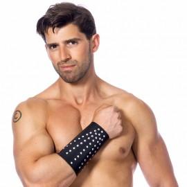 Manchette BDSM en cuir avec rivets (homme) - Rimba