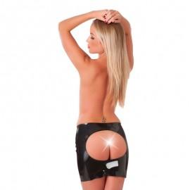 Jupe Latex ouverte à l'arrière (32cm. long) - Rimba