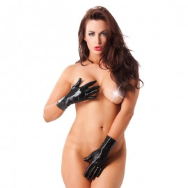 Black Latex gloves (short) – Rimba