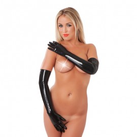 Gants Latex noir (longs) - Rimba