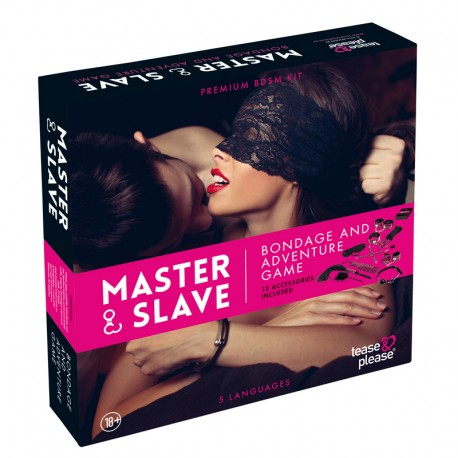 "Jeu Couple Bondage ""Master & Slave"" Magenta - Tease & Please"