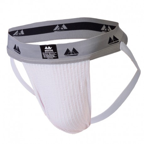 Bike Jockstrap Performance Cotton - Blanc