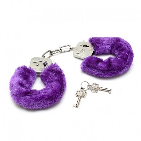 Purple Beginner's Furry Cuffs - Rimba