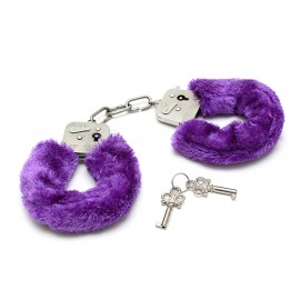 Purple Beginner's Furry Cuffs - Rimba