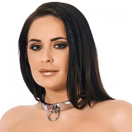 Leder BDSM Halsband Schwarz (2 cm Breite)