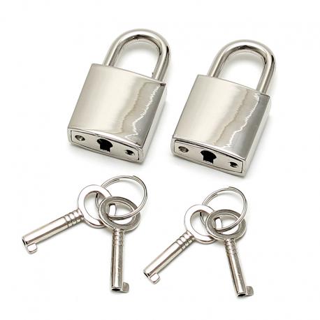 Small Metallic Padlock (2 pieces) - Rimba