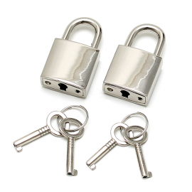 Small Metallic Padlock (2 pieces) - Rimba