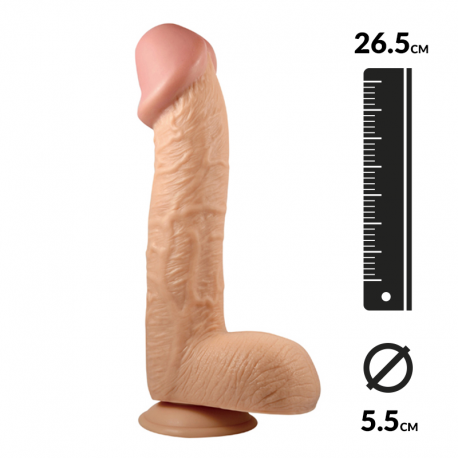 """Realistic Dildo with suction cup 26.5cm - King-Sized 10.5"""""""