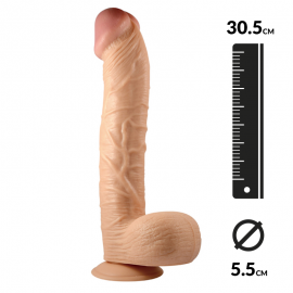 Realistic Dildo with suction cup 30.5cm - King-Sized 12""