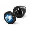 Plug anal Aluminium Anni Noir & Bleu Small - Diogol