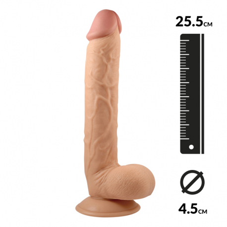 Realistic Dildo with suction cup 25.5cm - King-Sized 10""