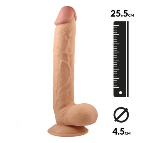 "Saugdildo realistisch 25.5cm - King-Sized 10"""