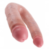 Realistic Bent dildo Large - King Cock Double Trouble