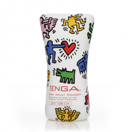 Masturbatore usa e getta - Tenga Soft Tub Cup Keith Haring