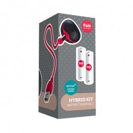 Chargeur USB Fun Factory Hybrid Kit (Batteries rechargeables incluses)