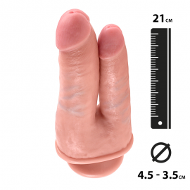 "King Cock ""Double Penetrator"" 21cm for double penetration – Pipedream"