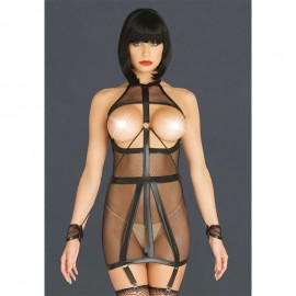 Sexy BDSM dress with fishnet - Leg Avenue